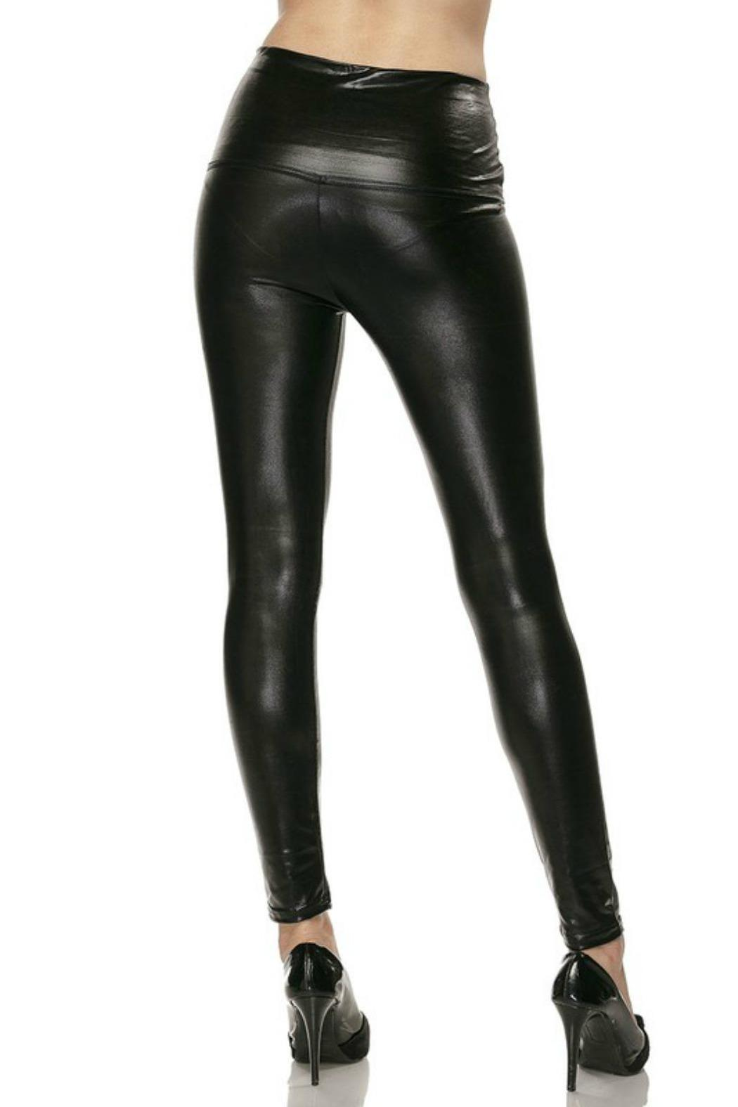 Branded Liquid Leather Leggings From San Diego Shoptiques