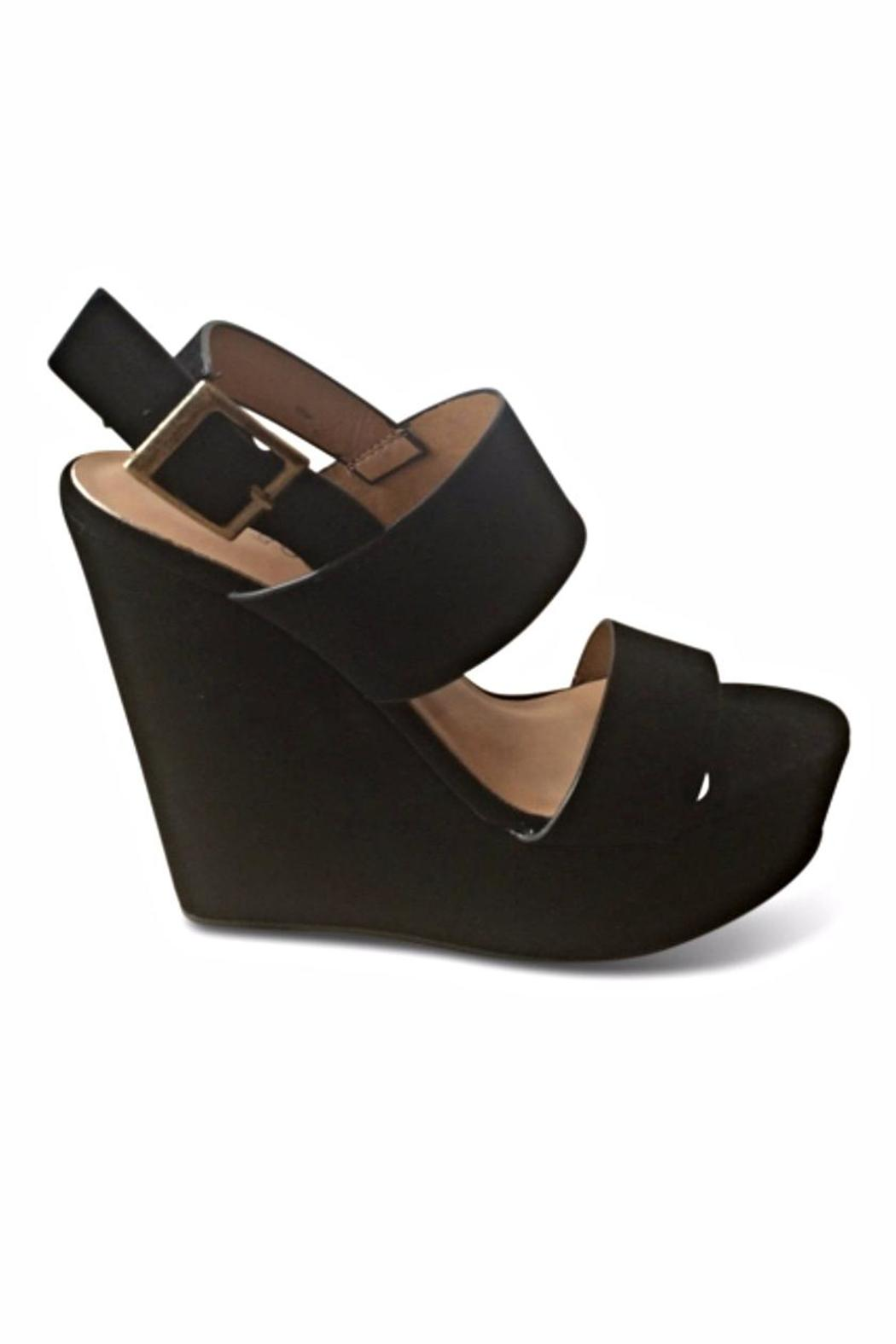 branded nubuck wedge sandals from san diego shoptiques