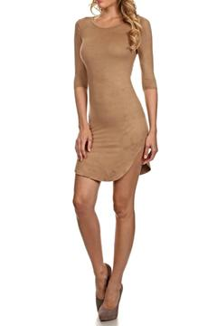 Shoptiques Product: Suede Bodycon Dress