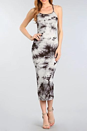40353d5e582f7 BRANDED Tie-Dye Midi Dress from San Diego — Shoptiques