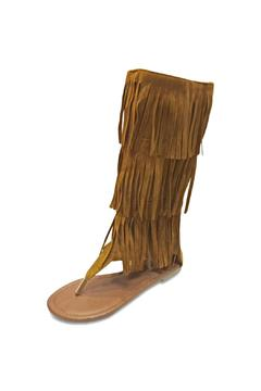 Forever Suede Fringe Sandals - Product List Image