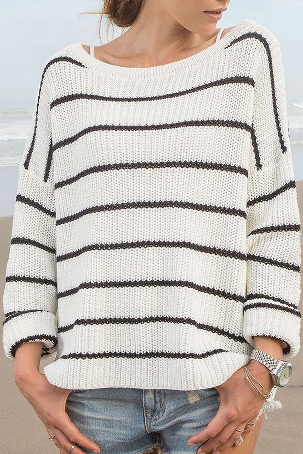 Wooden Ships Branson Striped Sweater - Front Full Image