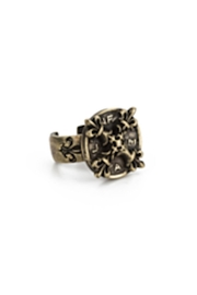 French Kande Brass Adjustable Ring - Front cropped