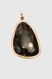 The Woods Fine Jewelry  Brass and Black Pendant - Product Mini Image