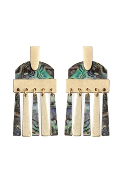 Shoptiques Product: Brass-And-Resin Post-Dangling-Earrings