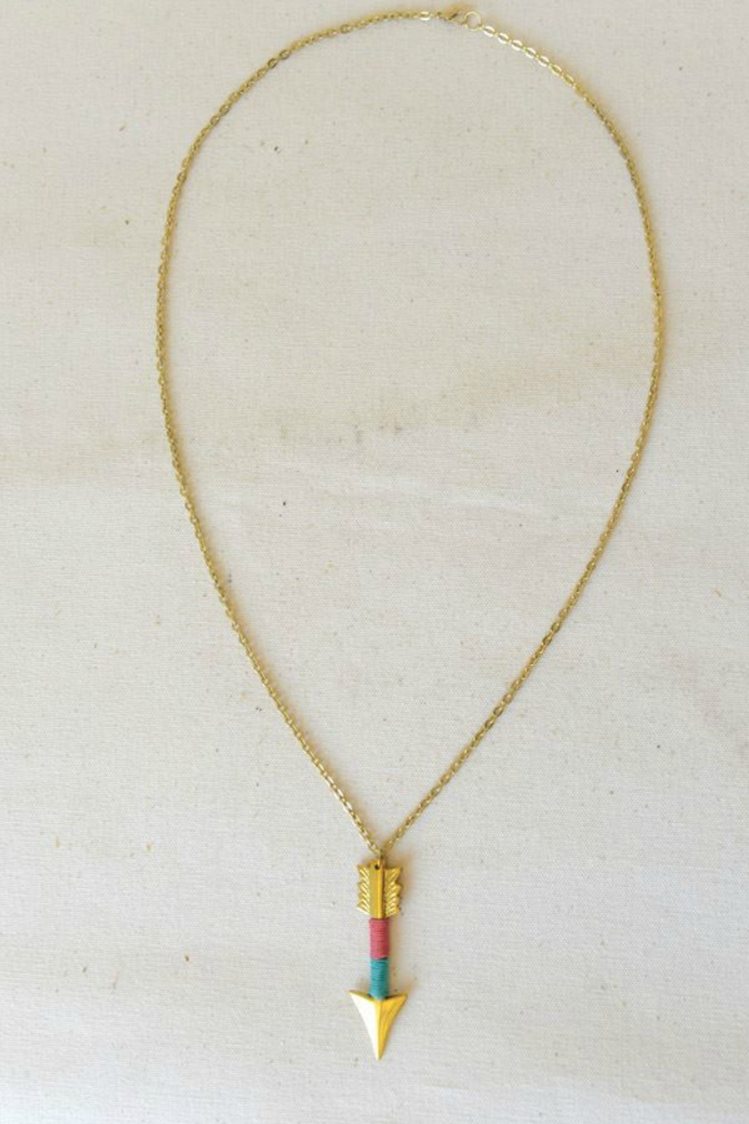 Starrs On Mercer Brass Arrow Necklace - Main Image