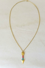 Starrs On Mercer Brass Arrow Necklace - Front cropped