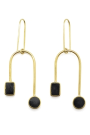 SOKO Brass Dangle Earrings - Product Mini Image
