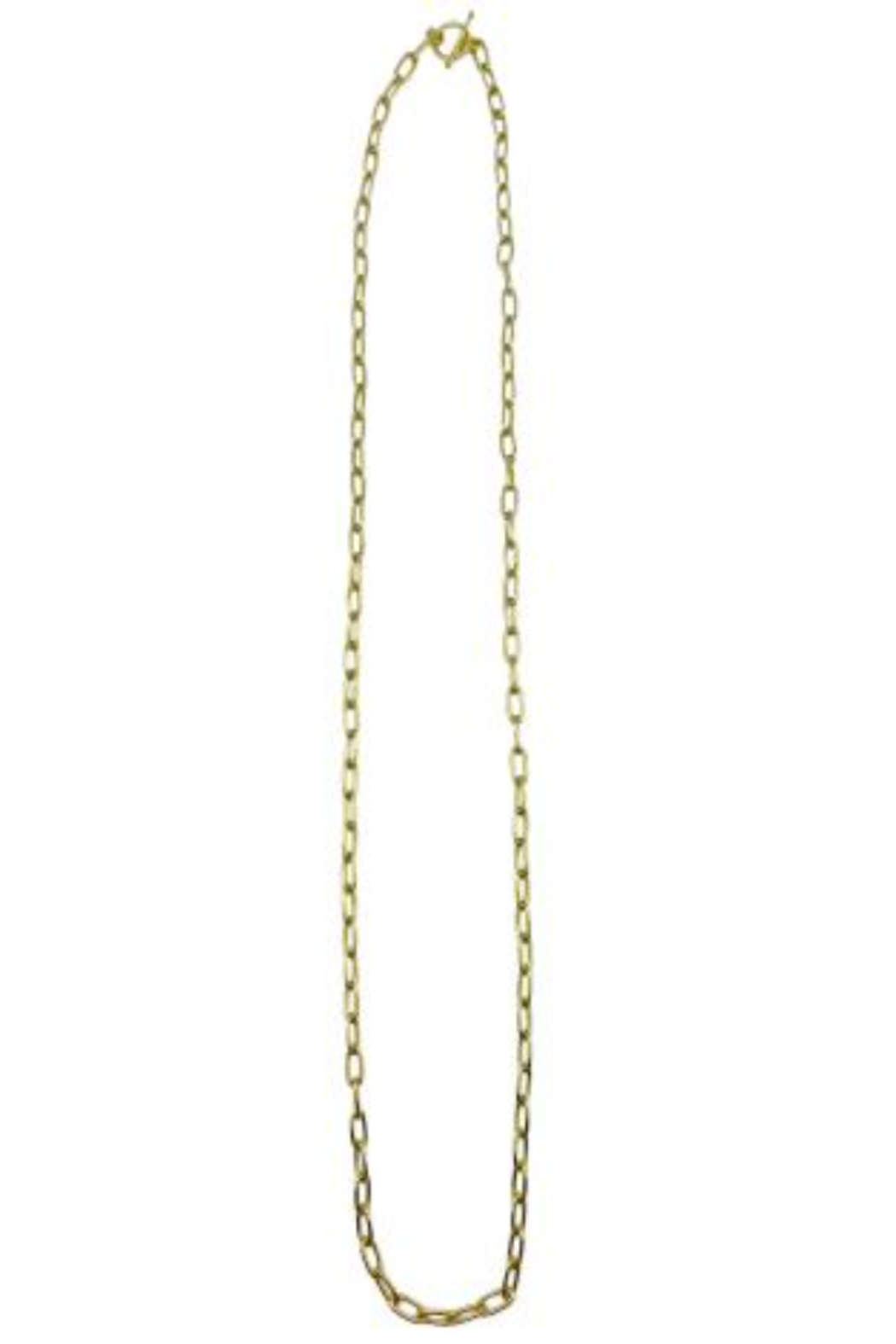 Anju BRASS GOLD CHAINLINK NECKLACE - Main Image