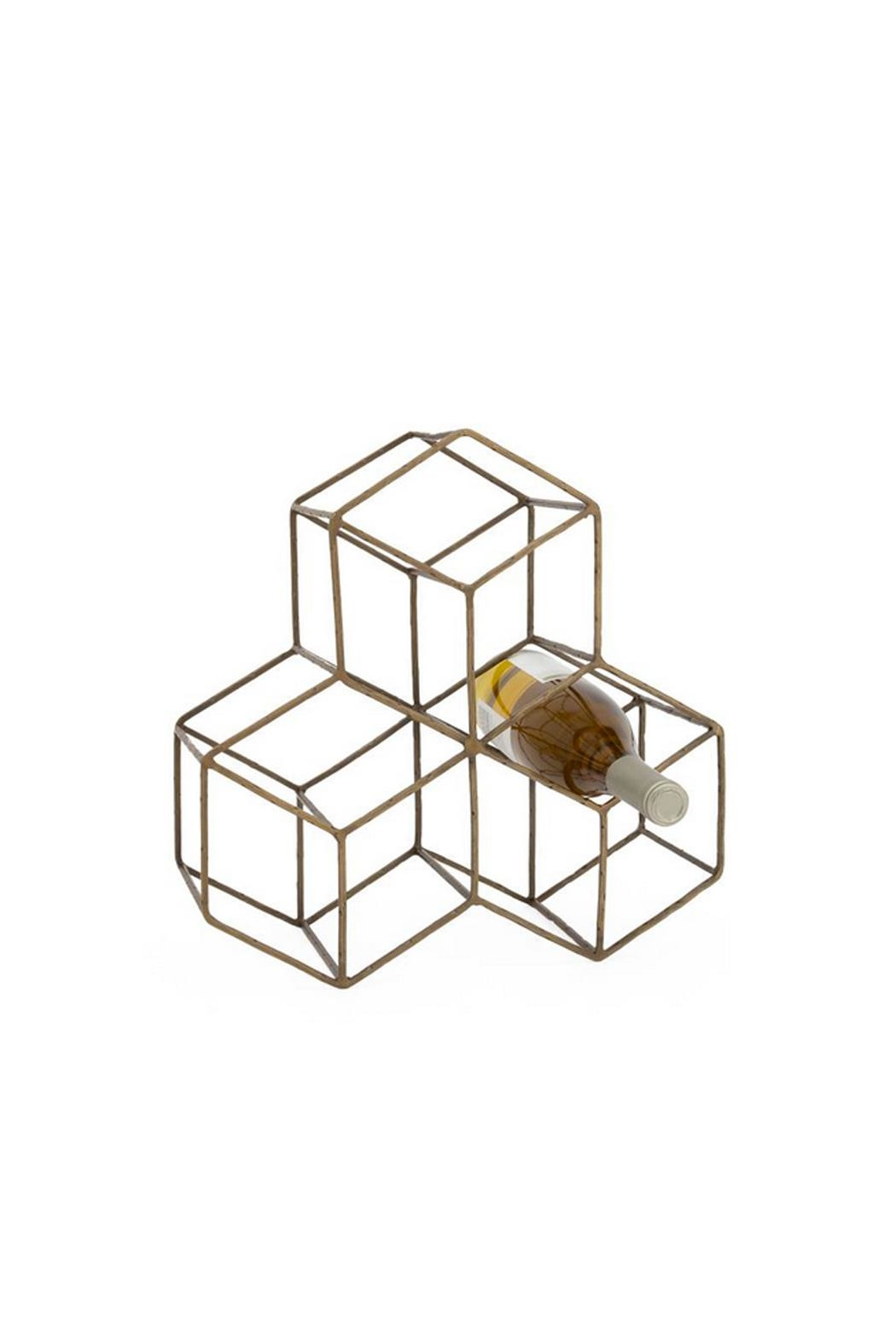 Torre & Tagus Brass Hexagon Wine-Rack - Main Image