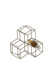 Torre & Tagus Brass Hexagon Wine-Rack - Front cropped
