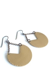SSD Brass V Circle Earrings - Product Mini Image