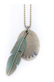 The Vintage Sparrow Brave Feather Necklace - Product Mini Image