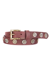 Brave Leather Studded Leather Belt - Front cropped