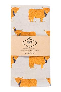 BRAW SCOTLAND Highland Cow Tea Towel - Product List Image