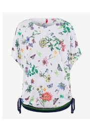 Brax Multi Floral Top - Back cropped