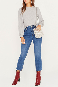 Project Social T Braxton Puff Slv Lurex Top - Product List Image