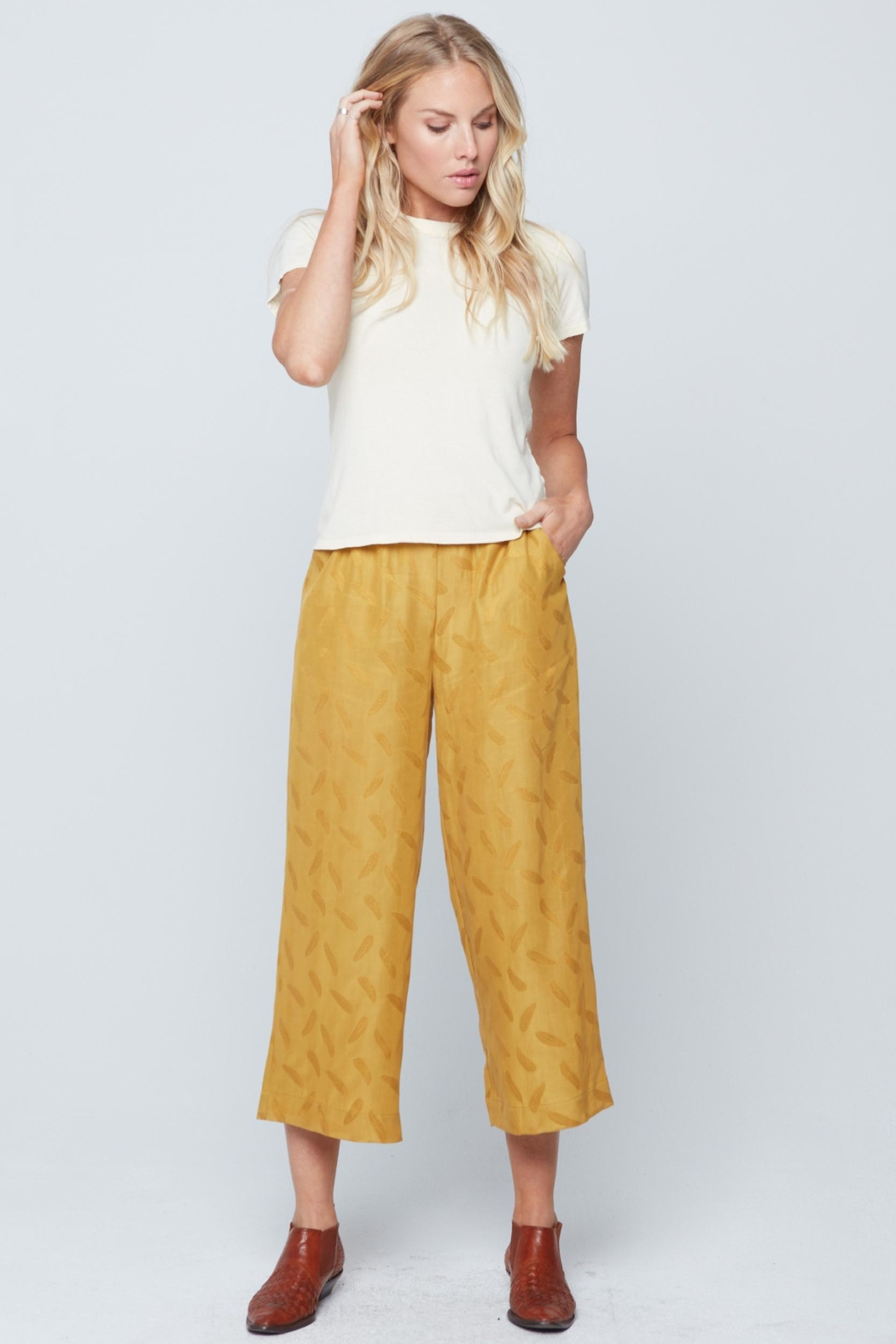 Knot Sisters Brea Pant Mustard - Front Full Image