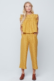 Knot Sisters Brea Pant Mustard - Front cropped