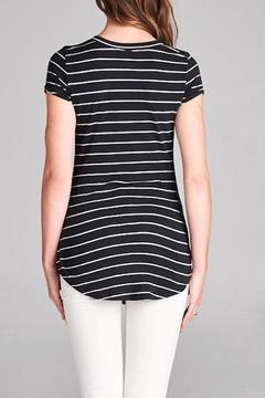 Shoptiques Product: Striped V-Neck Top