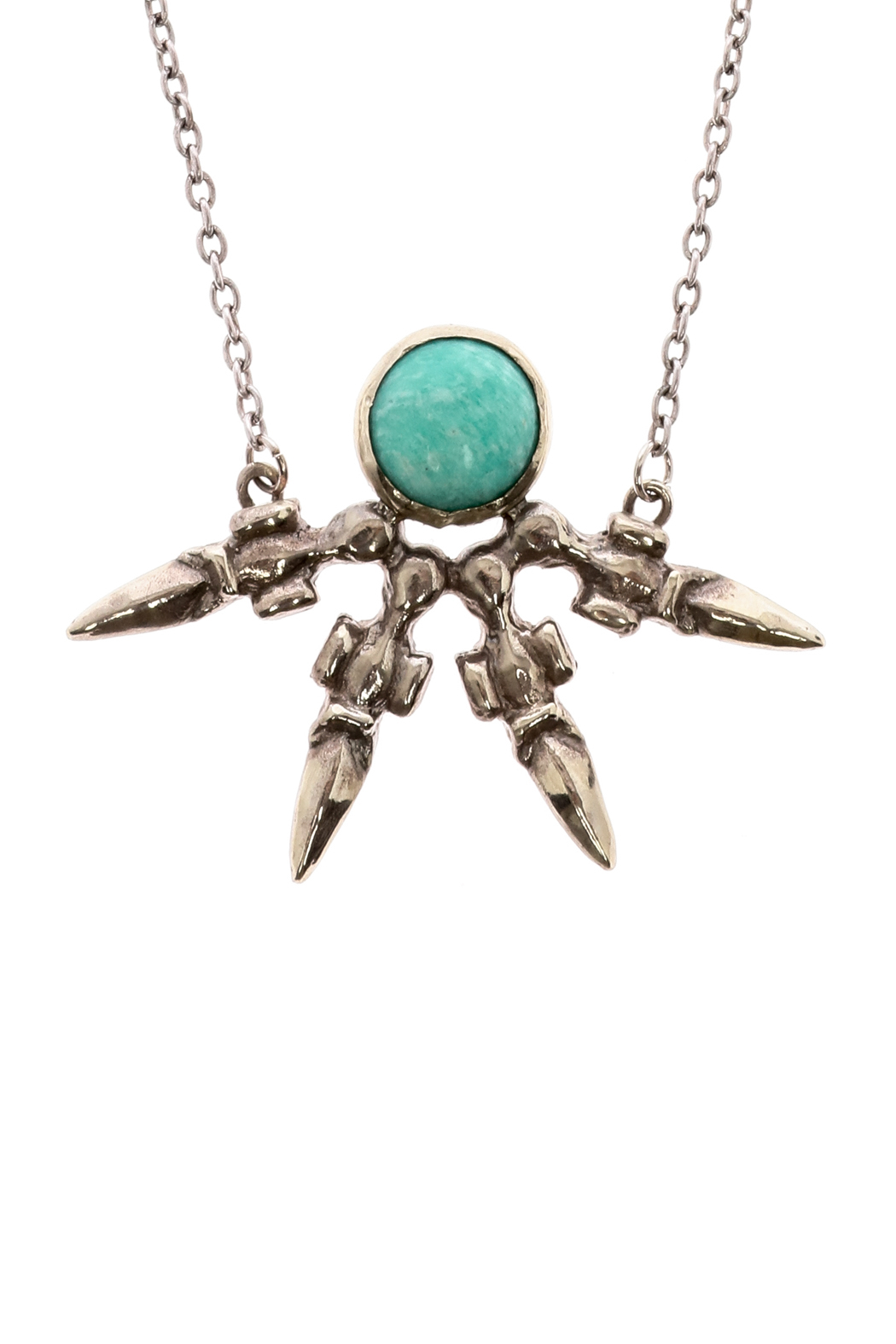 Break A Stone Amazonite Unity Necklace - Front Full Image