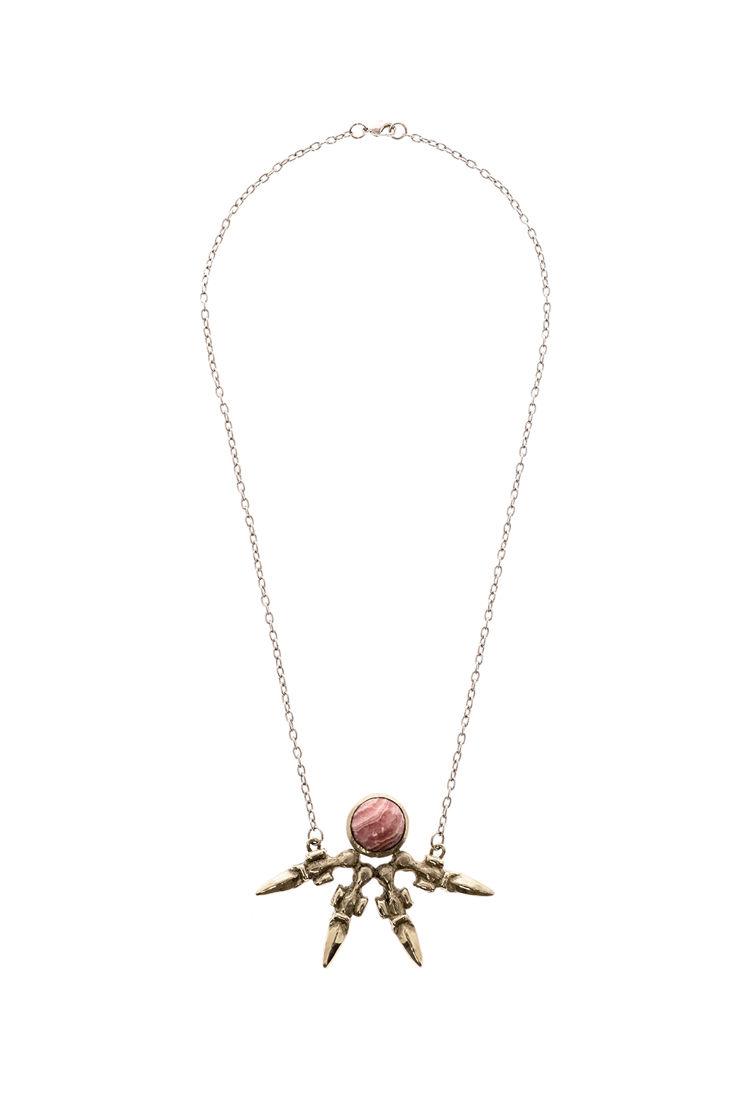 Break A Stone Rhodochrosite Unity Necklace - Front Cropped Image