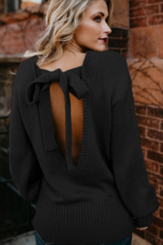 THE FREE YOGA Breanna Tie Back Sweater - Front cropped
