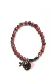 Chavez for Charity Breast-Cancer Beaded Bracelet - Front cropped