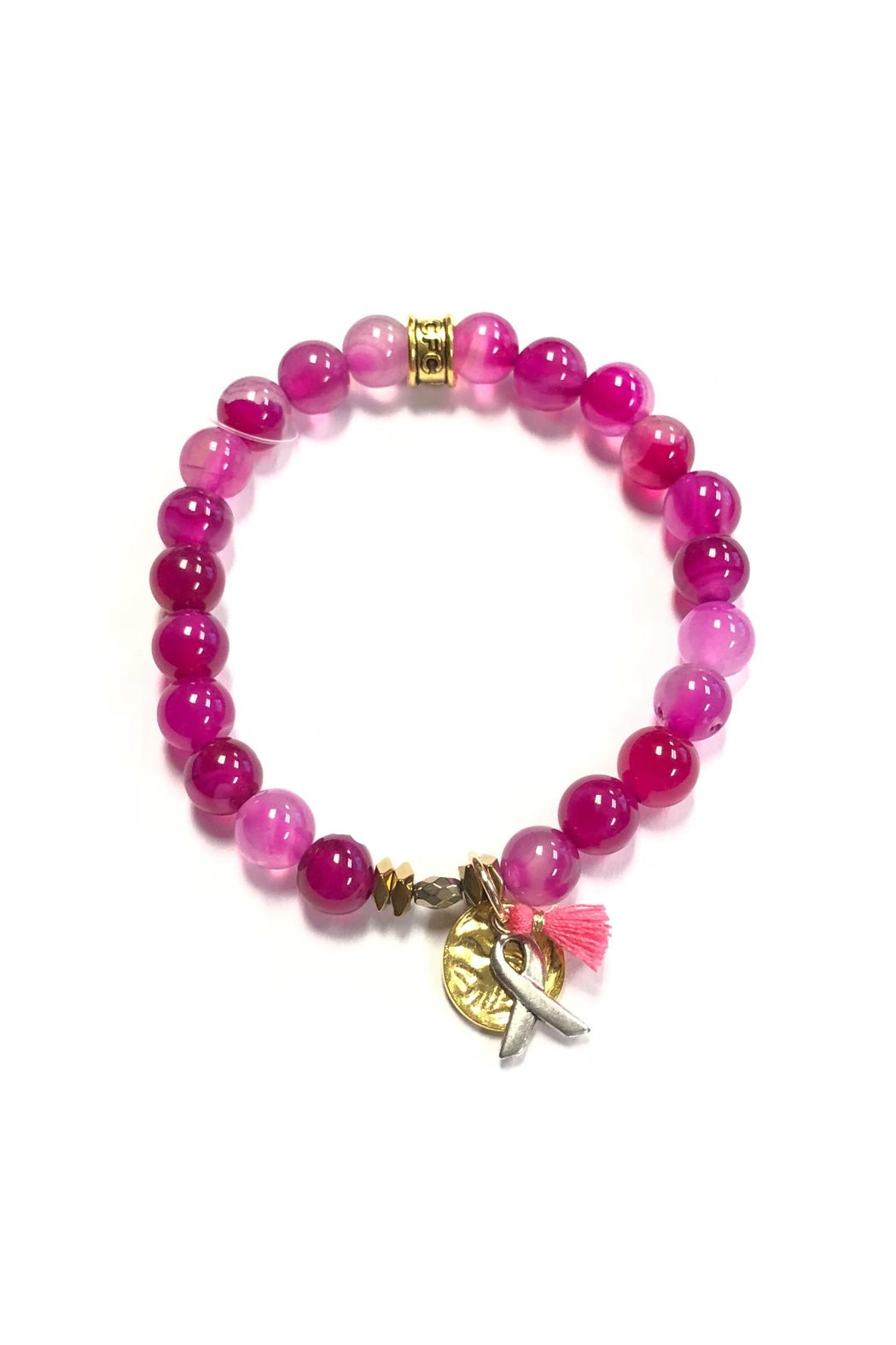 Chavez for Charity Breast-Cancer Ribbon Bracelet - Front Cropped Image