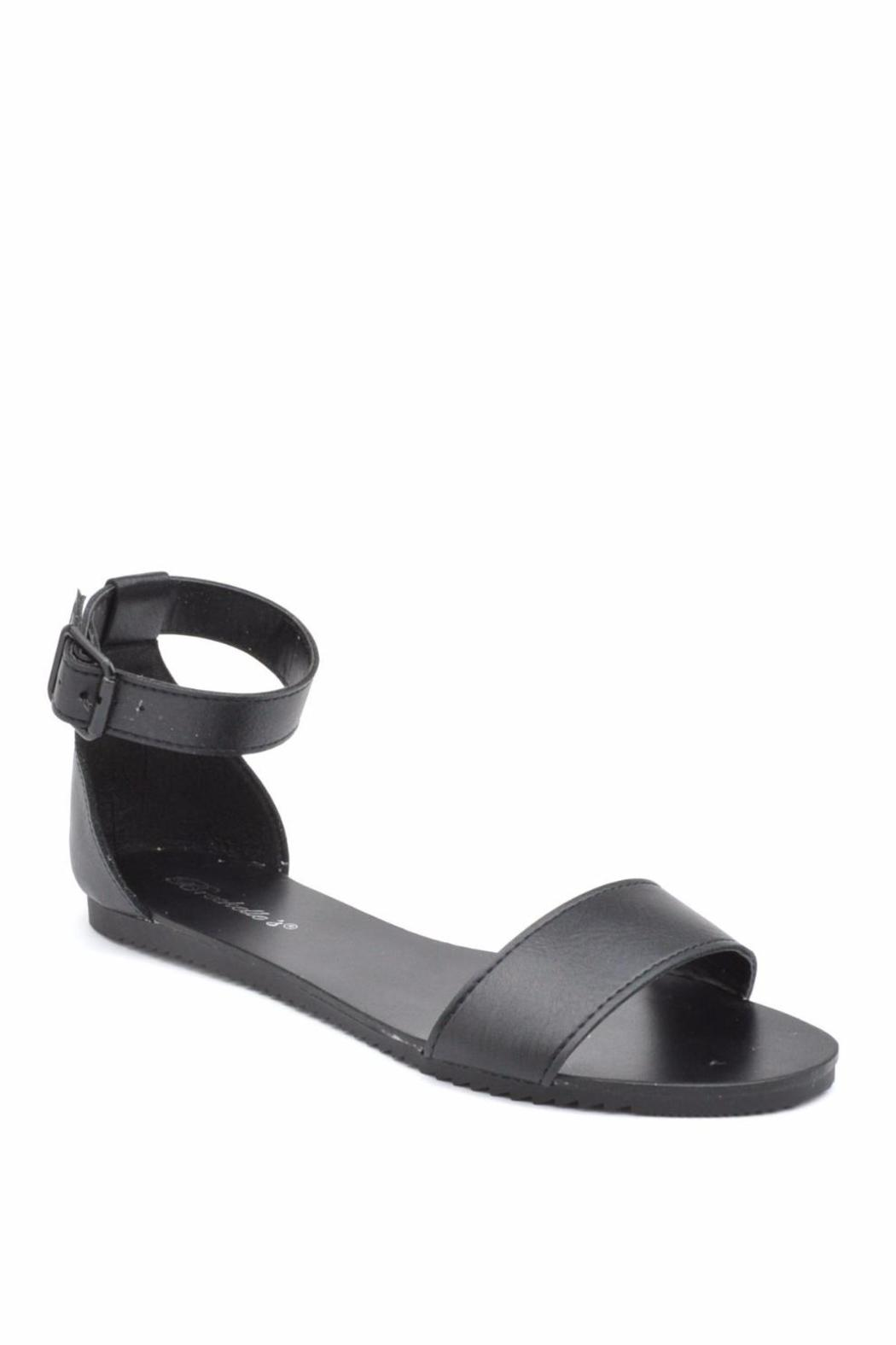 Breckelle's Ankle Cuff Sandal - Front Full Image