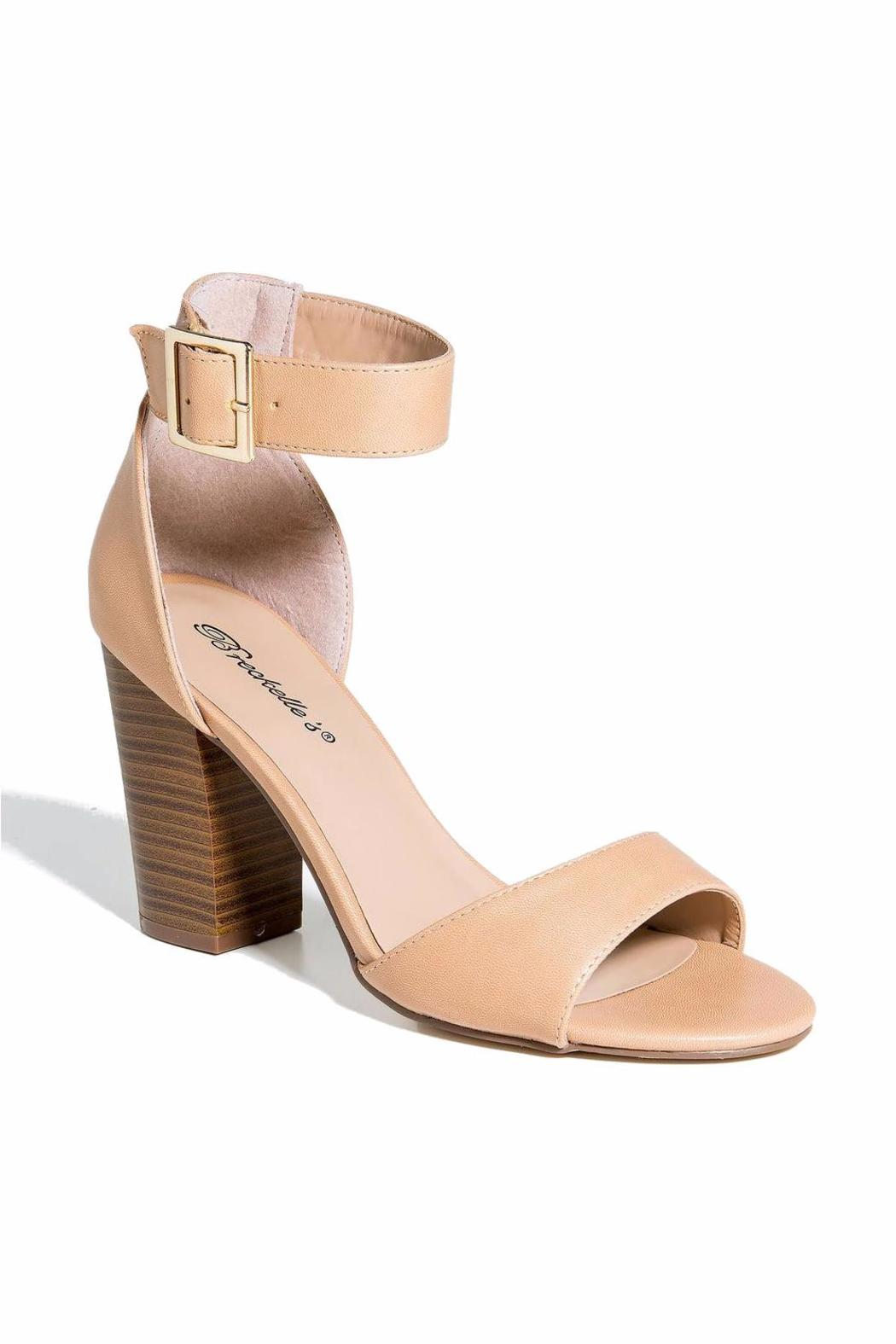 Breckelle's Ankle Strap-Chunky Heel - Front Full Image
