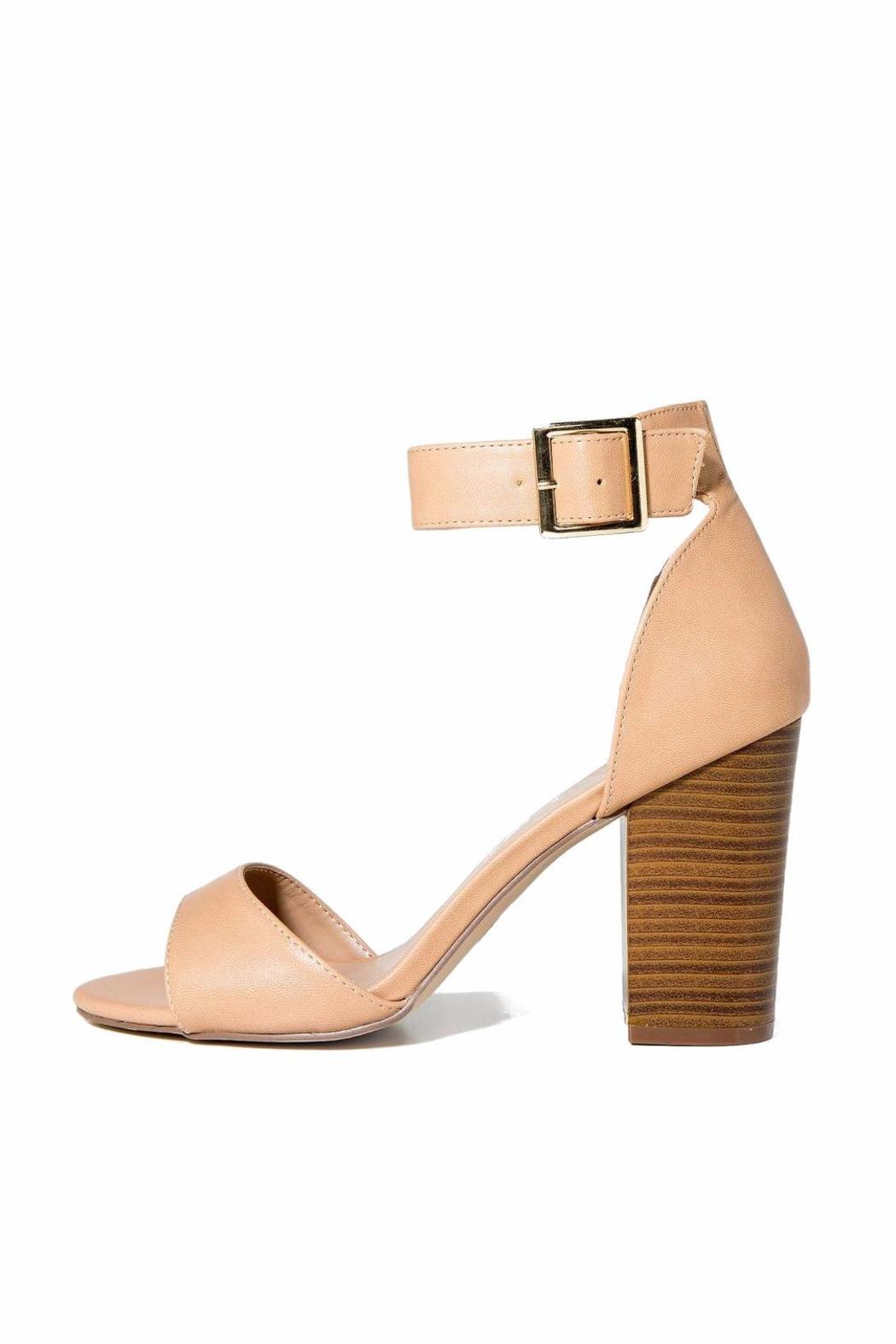 Breckelle's Ankle Strap-Chunky Heel - Main Image