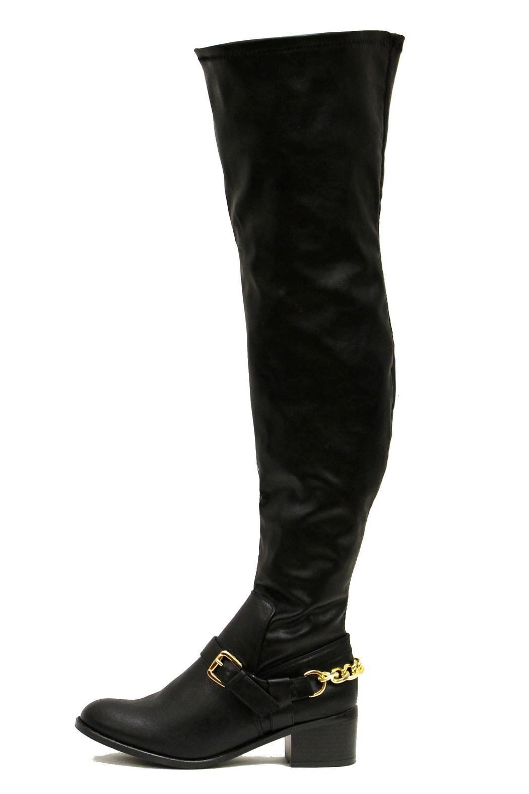 Breckelle's Capital Boot Black - Front Full Image