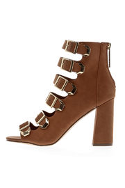 Breckelle's Tan Buckle Shoes - Side cropped