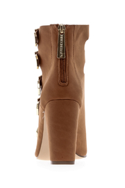 Breckelle's Tan Buckle Shoes - Back cropped