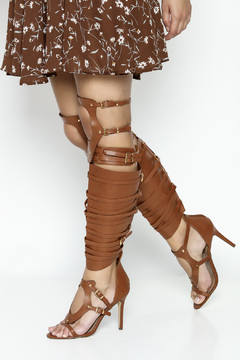 Breckelle's Tan Gladiator Heels - Product List Image