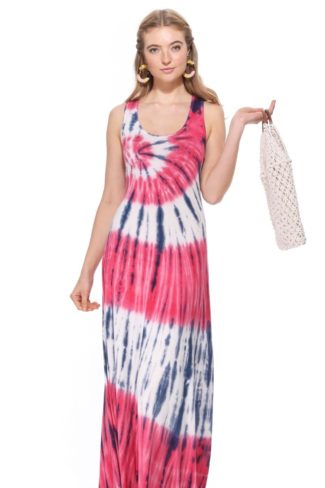 T-Party  Bree Knit Tank Maxi Dress - Front Full Image
