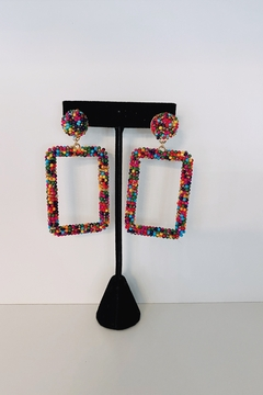 Adriana Bijoux Bree Square Beaded Earrings - Product List Image