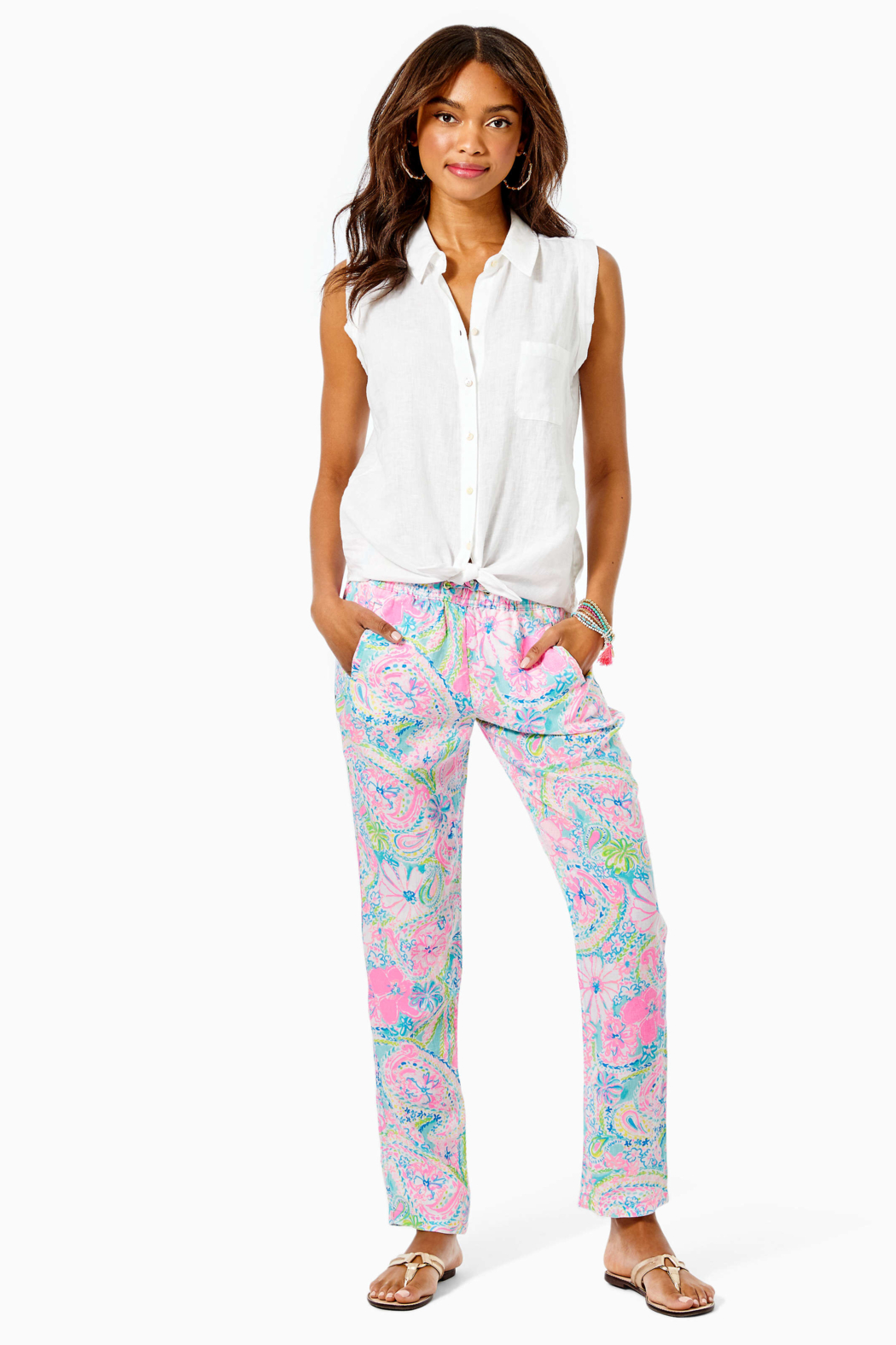 Lilly Pulitzer  Breelyn Button Down Top - Side Cropped Image