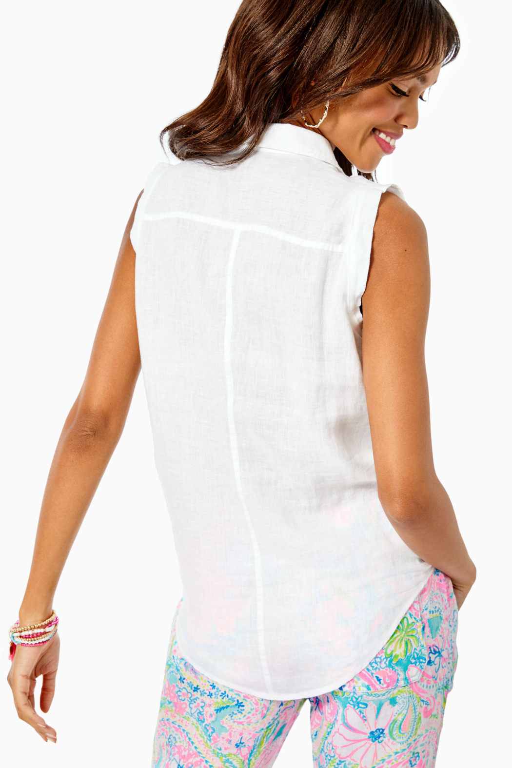 Lilly Pulitzer  Breelyn Button Down Top - Front Full Image