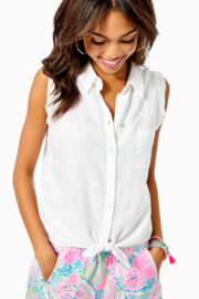 Lilly Pulitzer  Breelyn Button Down Top - Front cropped