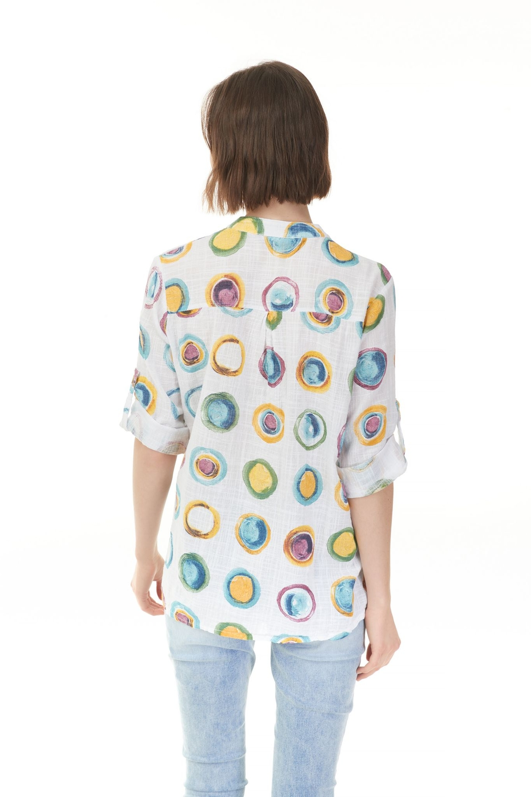 Charlie B. Breeze Print  Blouse - Front Full Image