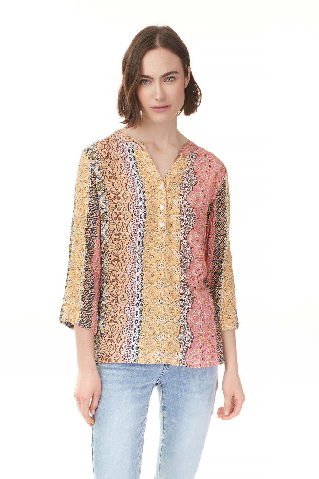 Charlie B. Breeze Print  Blouse - Front Cropped Image