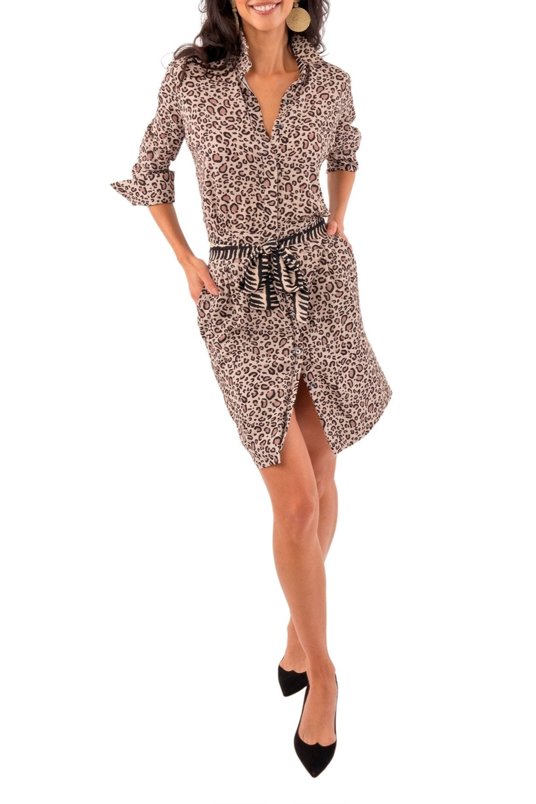Gretchen Scott Breezy Blouson Dress - Back Cropped Image