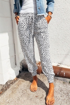 Shewin Breezy Leopard Joggers - Product List Image