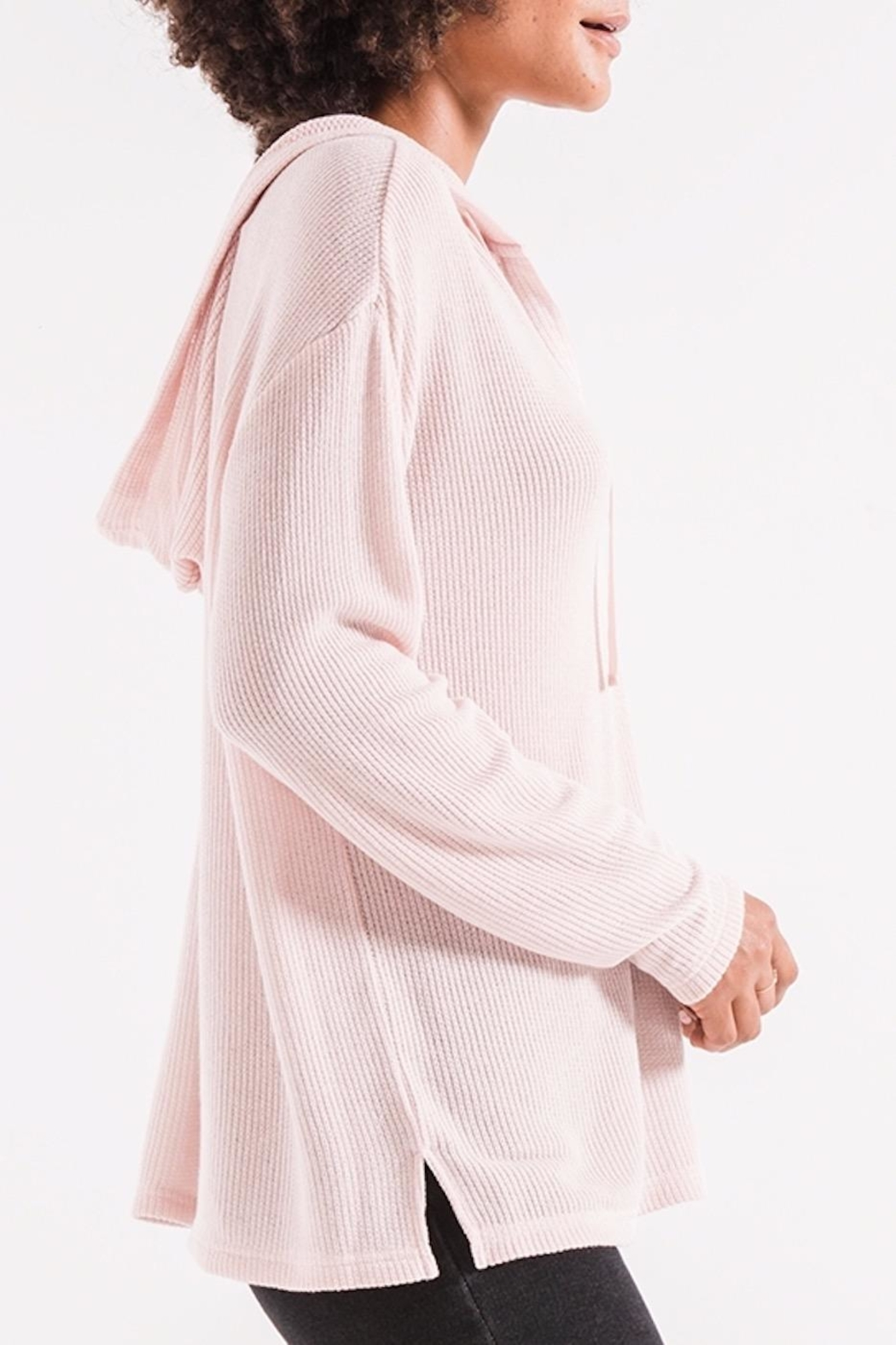 z supply Breezy Rib Hoodie - Side Cropped Image