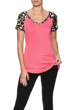 Shoptiques Product: Animal Print Sleeve Top