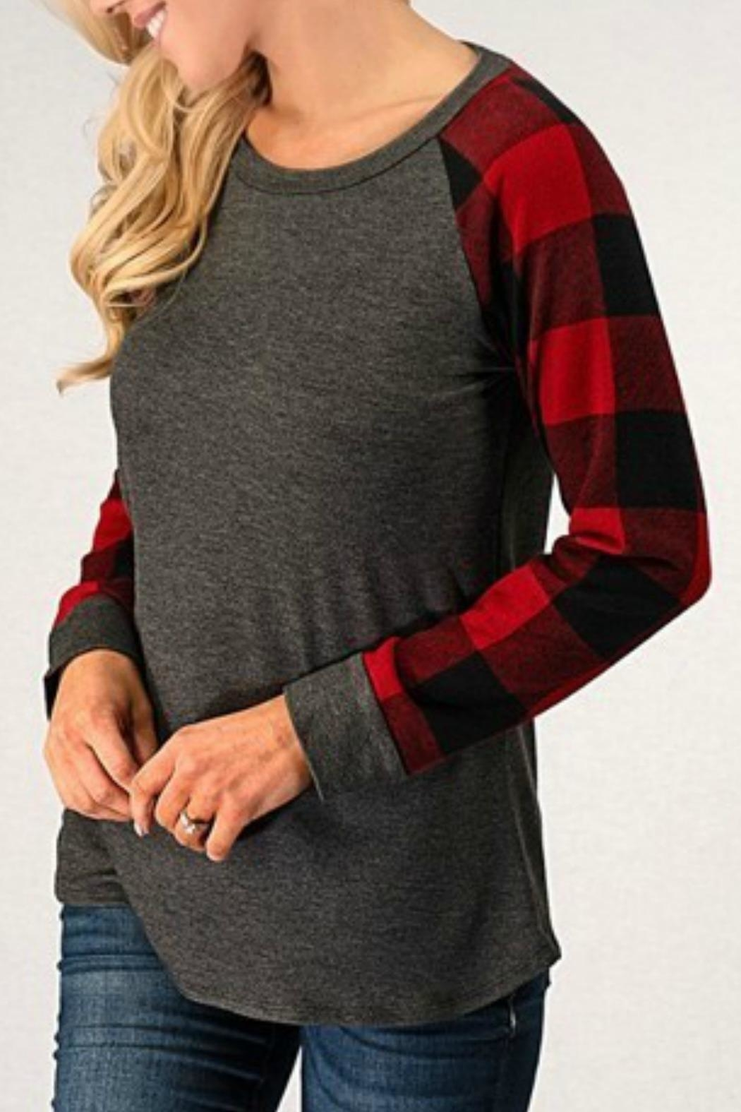 Brenda's Chelsi Plaid Top - Front Cropped Image