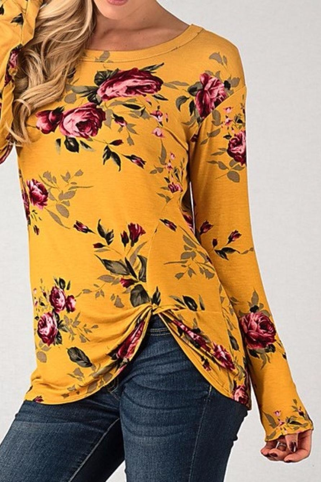 Brenda's Floral Long Sleeve - Front Cropped Image