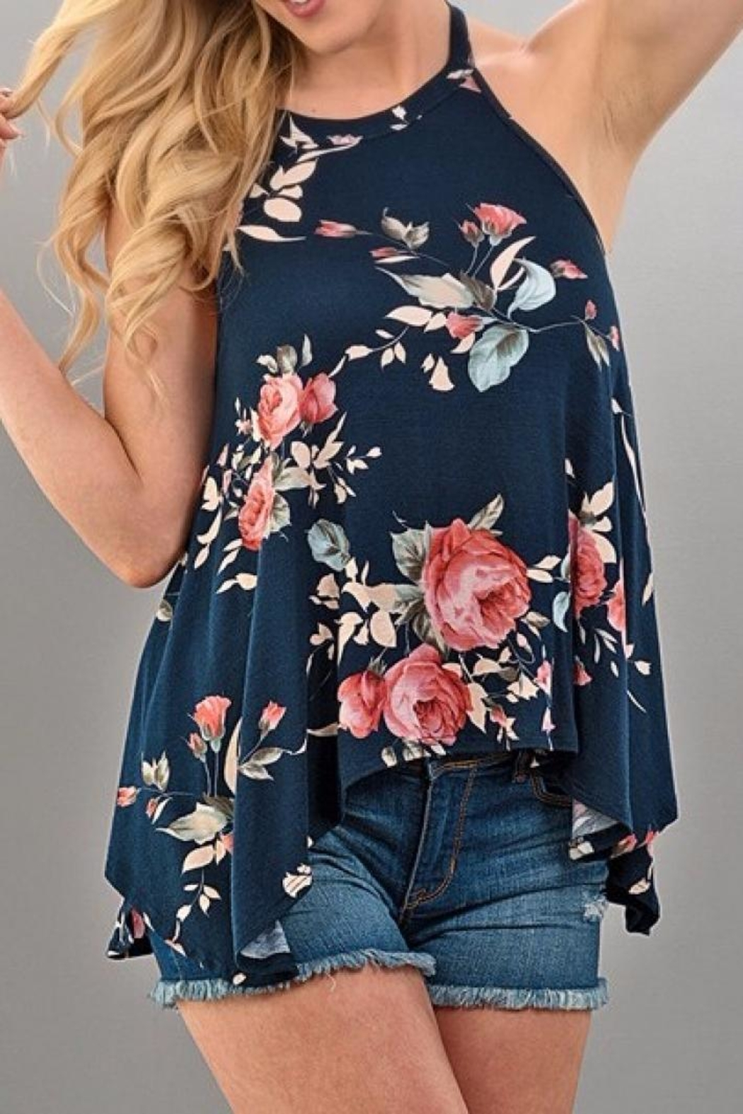 Brenda's Flowy Floral Tank - Main Image